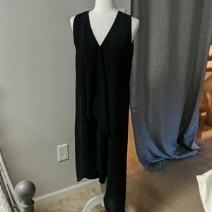 WHBM Asymmetrical Black Cocktail Dress